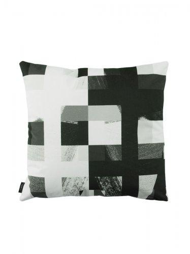dekokissen kissenbezug schwarz wei graphisch gardinen. Black Bedroom Furniture Sets. Home Design Ideas