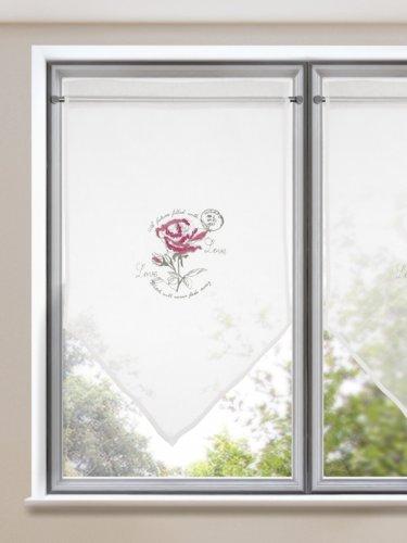 Scheibenh nger scheibengardine rose im romantischen - Scheibengardinen landhausstil ...