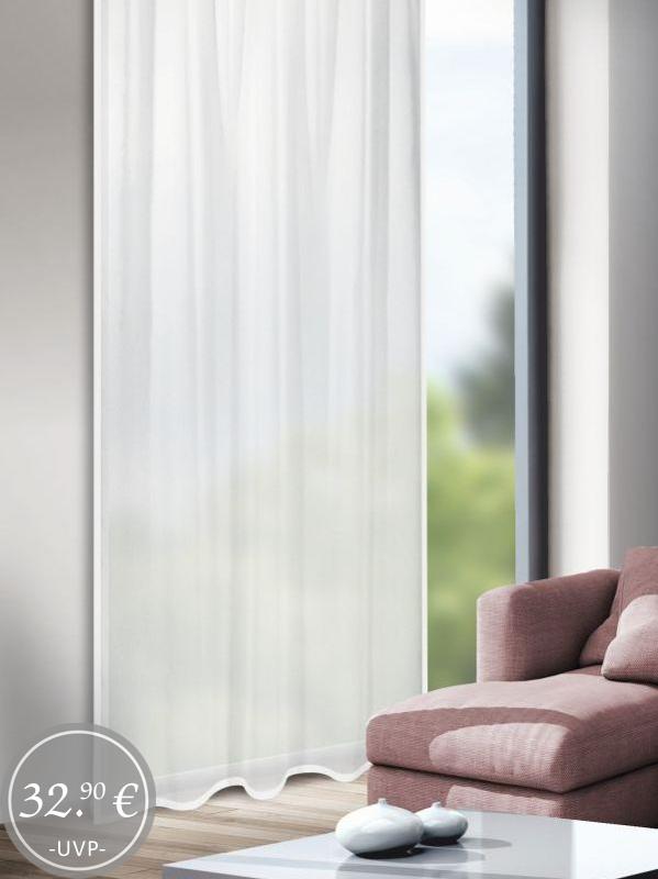 gardinen weiss mit vd schlaufen und kr usel universalband. Black Bedroom Furniture Sets. Home Design Ideas