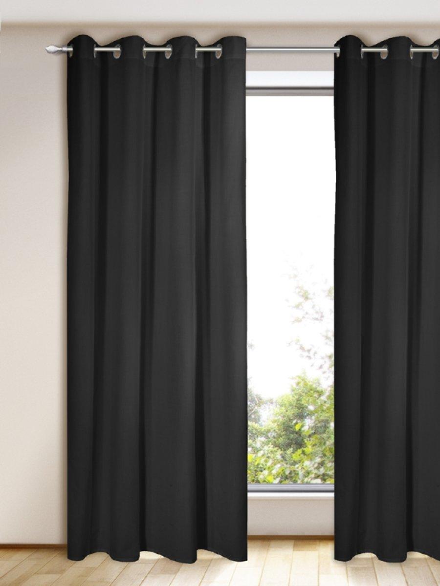 gardine vorhang blickdicht schwarz gardinen outlet. Black Bedroom Furniture Sets. Home Design Ideas