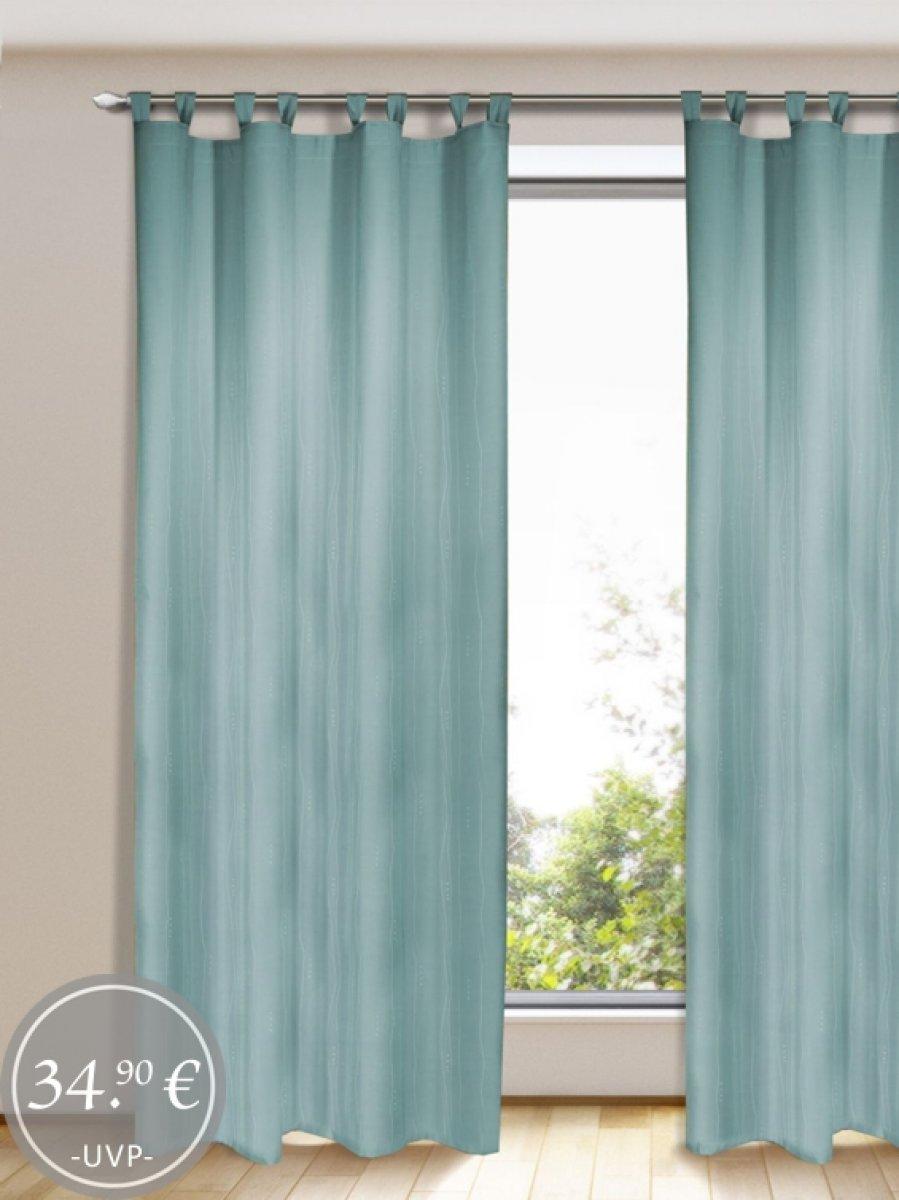 gardinen dekoschals blickdicht t rkis gardinen outlet. Black Bedroom Furniture Sets. Home Design Ideas