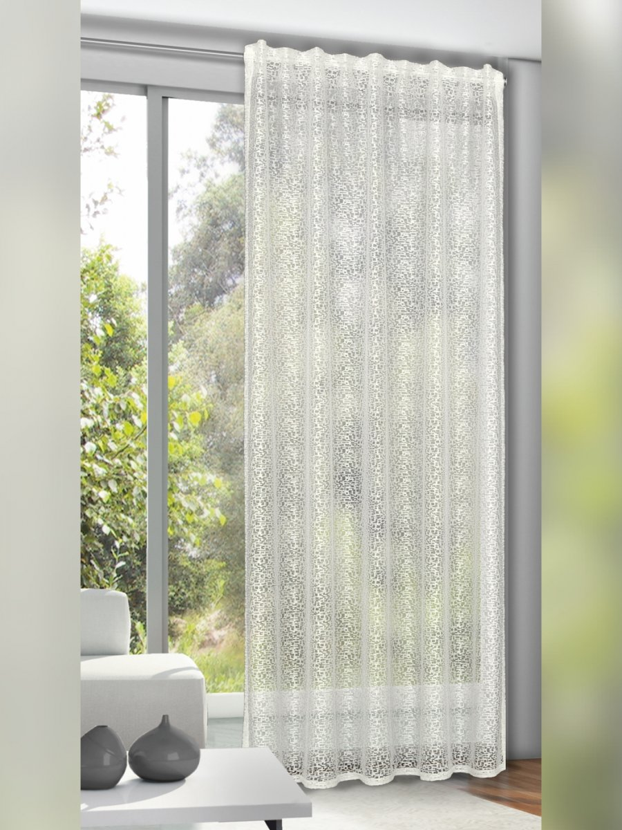 gardine schlaufenschal einfarbig natur gardinen outlet. Black Bedroom Furniture Sets. Home Design Ideas